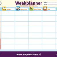 weekplanner afscheurpblok