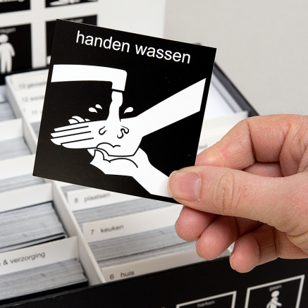pictogram handen wassen