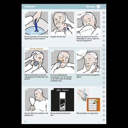 stappenplan scheren pictogrammen
