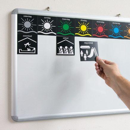 pictogrammen magnetisch planbord whiteboard