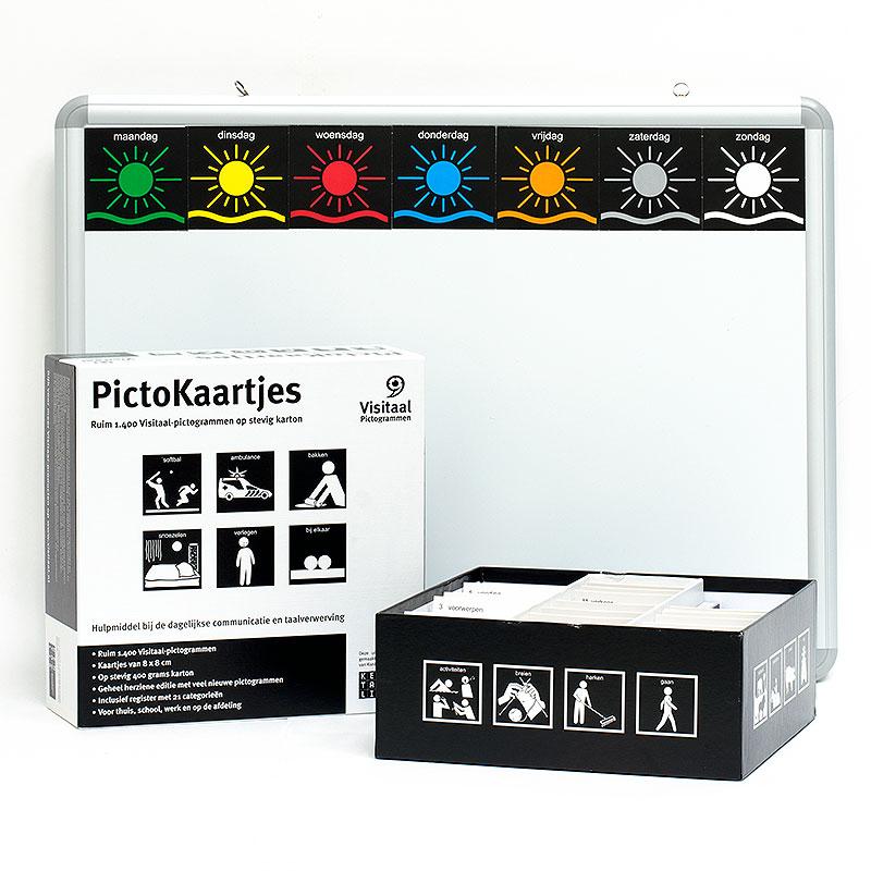 Wonderbaar 1.400 pictogrammen met magnetisch planbord - SpelpartnerShop VB-32